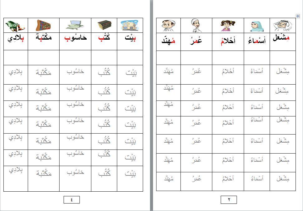 القراءة والكتابة والاناشيد للصف الثاني pdf